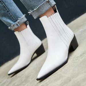 White Black Women Low Heel Cow Leather