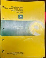 John Deere Weathershield 424344454600 Tractors Op Manual Omty24776 I 2