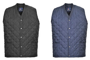 Portwest Kinross Bodywarmer Gilet Sleeveless Jacket Quilted Thermal Lined S413