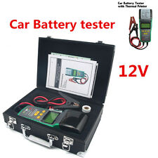 Universal Car Battery Load Tester 12V Battery Analyzer Tool With Thermal Printer