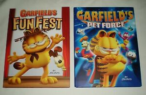 Lot of 2 GARFIELD'S FUN FEST & GARFIELD'S PET FORCE HB ...