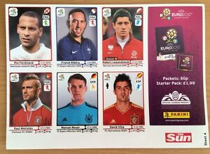 Panini UEFA World Euro Cup Stickers FIFA Sun Sheet 2012 - <span itemprop=availableAtOrFrom>Colwyn Bay, Conwy, United Kingdom</span> - Panini UEFA World Euro Cup Stickers FIFA Sun Sheet 2012 - Colwyn Bay, Conwy, United Kingdom