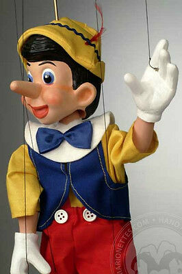 Marionette Pinocchio Cartoon Puppet (hand made in Czech Republic)