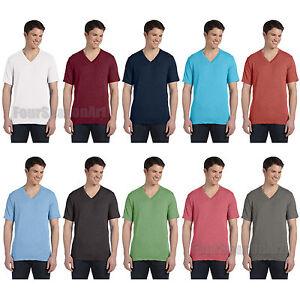 Canvas-Triblend-V-Neck-T-Shirt-Mens-Vneck-Tee-XS-S-M-L-XL-2XL-3415-3415C