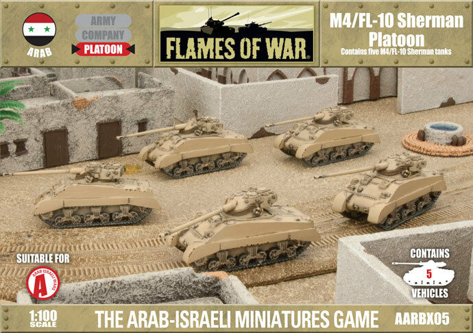 Flames of War M4 M4 M4 FL10 Sheruomo Platoon Arab Six-day War Miniatures AARBX05 216722