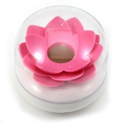 Fashion Lotus Flower Cotton Bud Stick Brush Storage Holder Case Vogue Home Decor