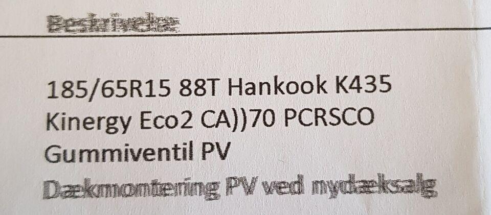 Stålfælge, Hankook, sommerdæk