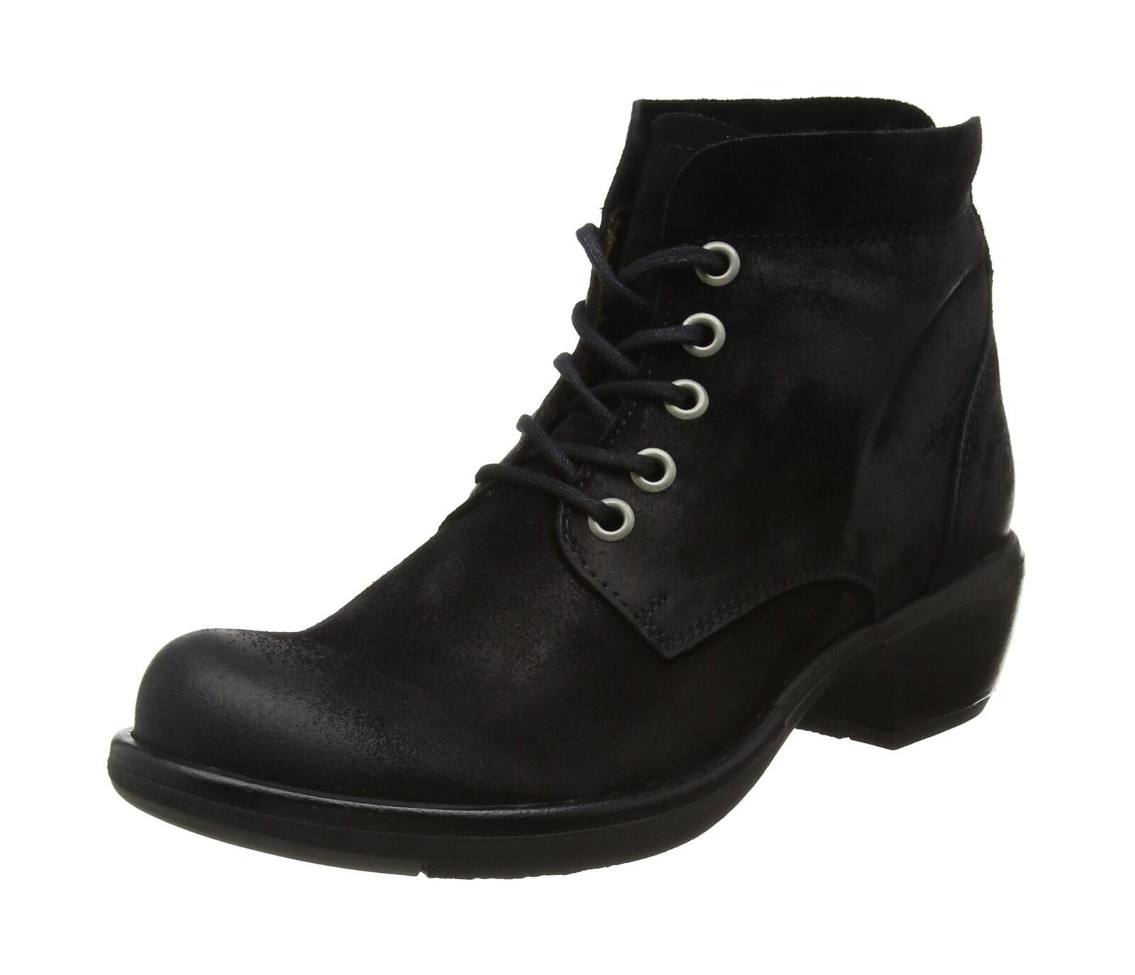 Fly London Women's Mesu780fly Boots Black (Black) 4 UK