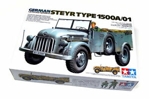 Tamiya-Military-Model-1-35-German-STEYR-Type-1500A-01-Scale-Hobby-35225