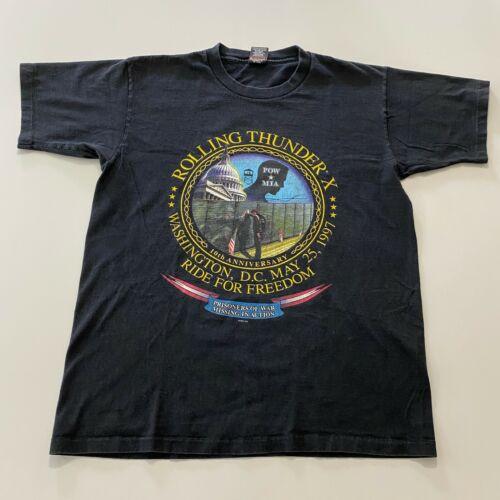 Vintage 90s Harley Davidson T-Shirt Size L Black R