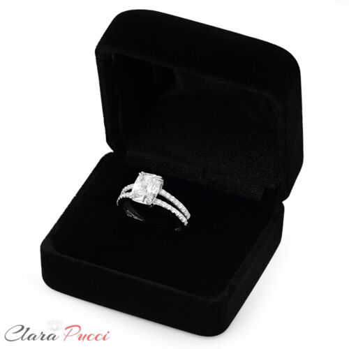 3.50 ct Cushion Cut Classic Solitaire Engagement Promise Ring 14k White Gold