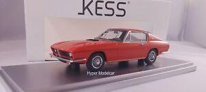 Kess Modèle 1/43 Bmw 2000 Ti Coupè Début 1968 Rouge Ke43035000