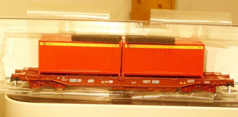 Roco 76753 Vagón Unitario Coche de Canguro Sj con Dos Contenedores el NSB