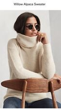 Reformation Willow Alpaca Sweater - Turtleneck - Ivory - XS - NWT New - Sold Out