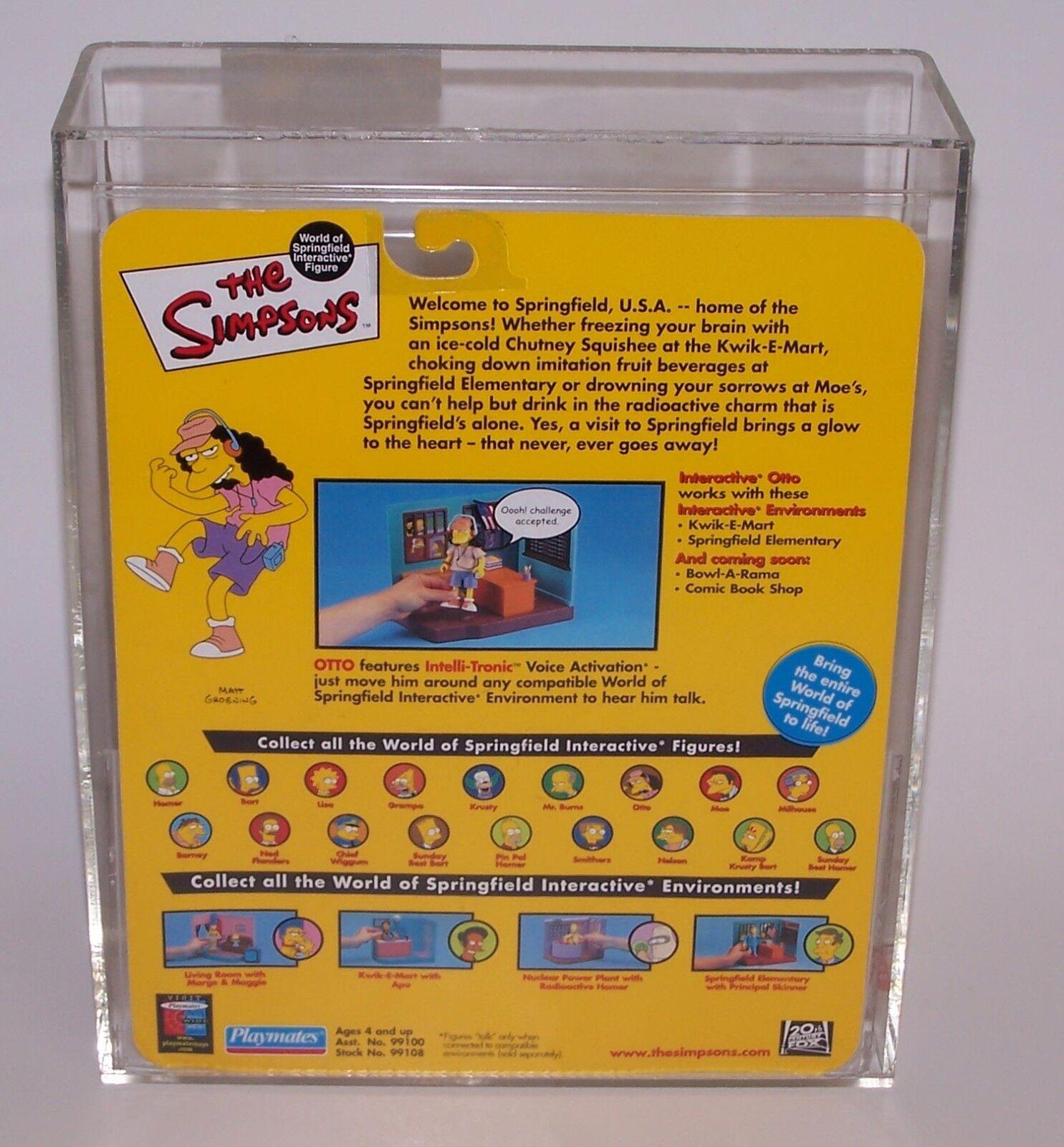 The Simpsons Otto Action Figure Figure Figure Series 3 Playmates AFA Graded 70 EX+ 2000 b0bd2b
