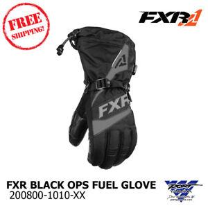 FXR-Fuel-Glove-Black-Ops-Snowmobile-Gloves-M-LG-XL-2X-3X
