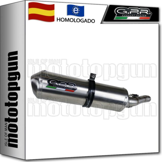 GPR ESCAPE HOMOLOGADO + KIT SATINOX YAMAHA XT 600 E-K 2000 00 2001 01 2002 02