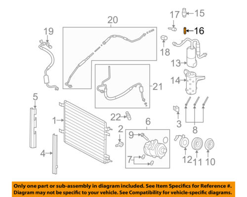 FORD OEM A//C AC Condenser//Compressor//Line-Pressure Switch Valve E69Z19D701A