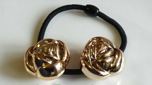 DIAMOND Rose Ladies Hair Bands eLaSTiC Ponytail TiE Bobbles ViNTaGe PeaRL DeSigN