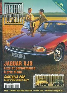 RETROVISEUR-n-122-10-1998-JAGUAR-XJS-CISITALIA-202-DAUPHINE-GORDINI-ARONDE