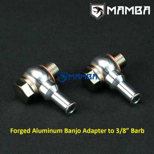 """Turbo Water Banjo Bolt Pipe Kit M14x1.5 to 3//8/"""" Barb GT25R GT28R GT30R GT35R UK"""