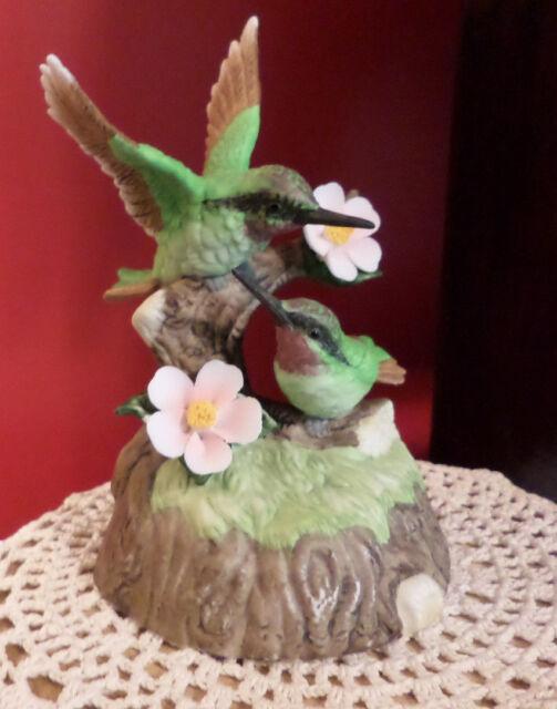 Brinn's Porcelain Hummingbird Figurine In Original Styrofoam Perfect Condition
