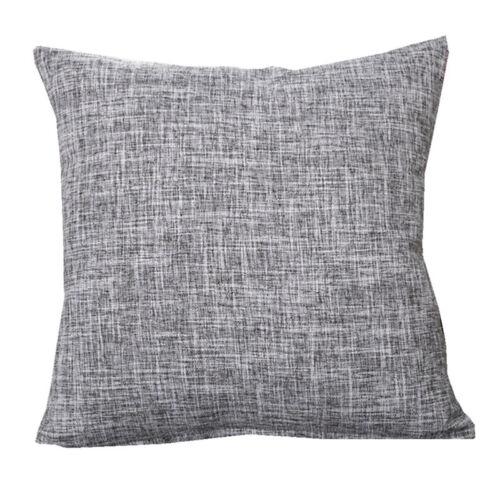 """16/""""//18/""""//20/"""" Pillowcase Thicken Linen Solid Color Cushion Cover Car Sofa Decor"""