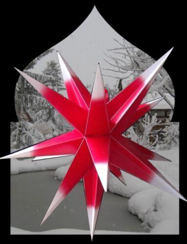 55 cm mit 15 Zacken Adventsstern Weihnachtsstern Dekostern für Außen ca