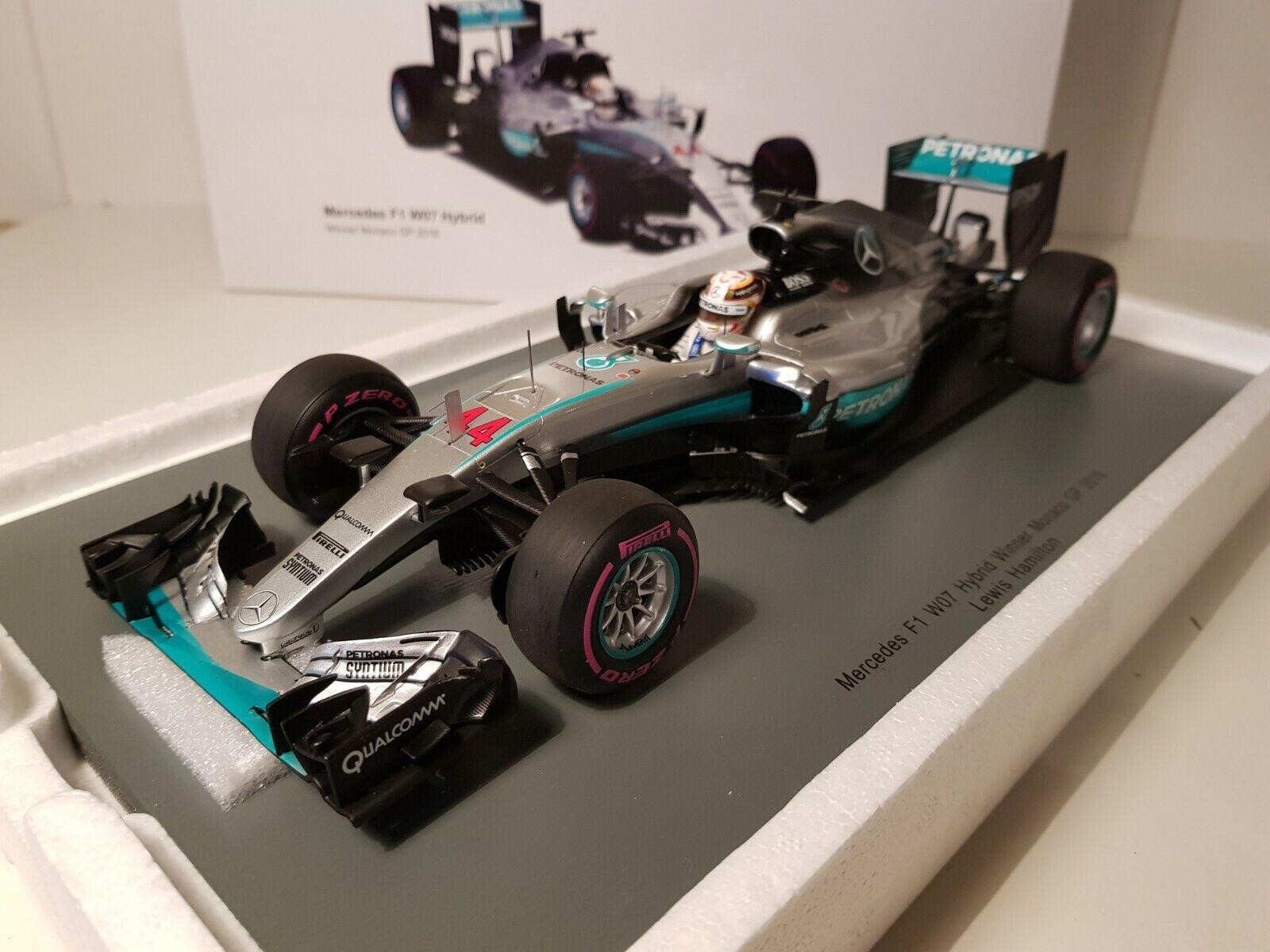 SPARK - MERCEDES F1 W07 HYBRID WINNER MONACO GP 2016 1 18 SCALE 18S194