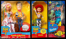 Woody and Bo Peep Gift Set Jessie Tour Guide Barbie Doll Disney Toy Story 2 SW