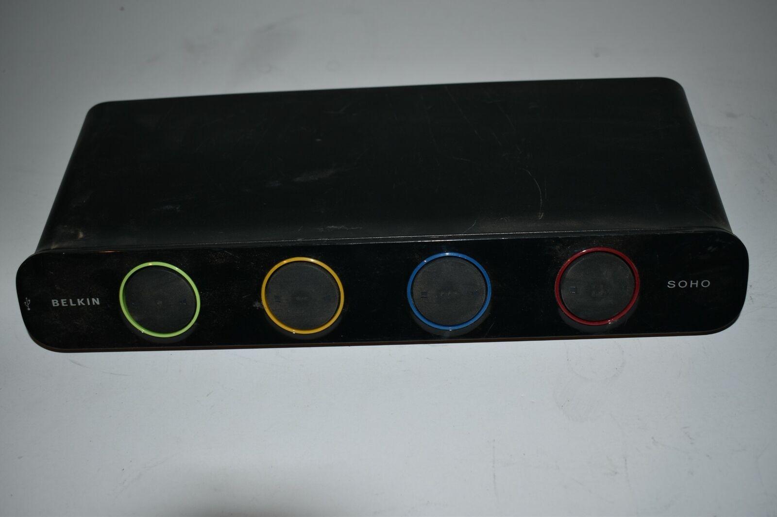 ^^ BELKIN OMNIVIEW SOHO KVM SWITCH WITH AUDIO MODEL F1DD104L (XN112)
