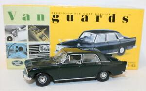 Vanguards-1-43-escala-Diecast-VA46001-Ford-Zephyr-6-MKIII-Goodwood-Verde