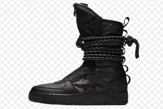 New Nike SF Af1 Hi Air Force 1 Special Field Triple Black Dark Grey (aa1128  002)