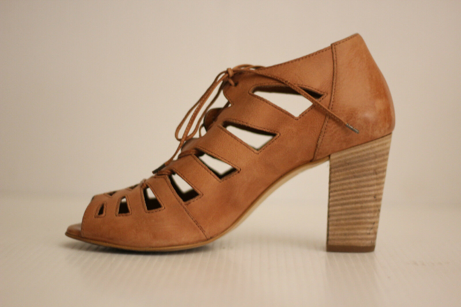 Paul Grün Jansen Lace-Up Block Heel Sandal- Cuoio Leather  - 8 US   Leather 5.5 UK (W8) 56b81d
