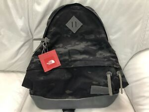 123efde81 Details about The North Face 68 Daypack Backpack Black Multi Camouflage  Cordura New With Tags
