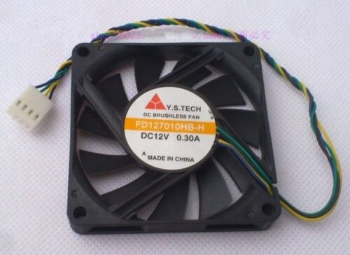1 PC Y.S.TECH FD127010HB-H Fan 12V 0.30A 4 Pin 70*70*10mm #K1617 LL