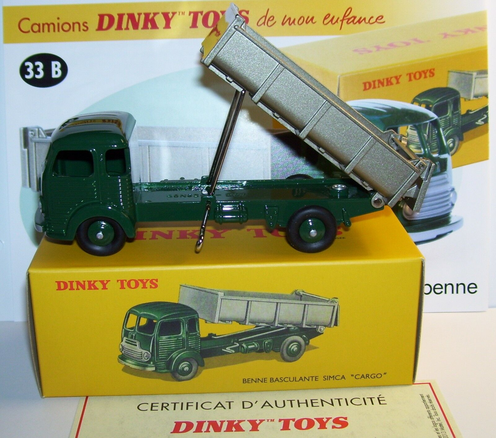 DINKY TOYS ATLAS CAMIÓN TRUCK SIMCA CARGO VOLQUETE BASCULANTE REF 33B BOX