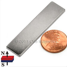 "Neodymium Magnet N45 2""x1/2""x1/16"" NdFeB Rare Earth Magnets 10 PC"