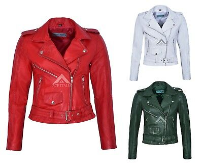 Smart Range Brando Cherry Red Mens Classic Motorcycle Biker Cowhide Real Leather Jacket MBF