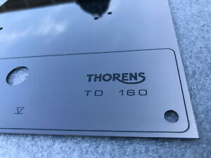 Thorens-TD-160-165-166-145-146-147-RETRO-top-face-plate-Black-Mirror-with-LIFT