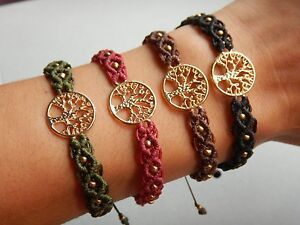 Conception innovante 0968e b4877 Details about Handmade Tree of Life bracelet/anklet , macrame bracelet,  friendship bracelets