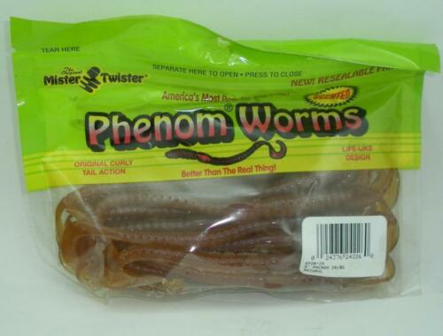 """Mister Twister 6P20-24 Phenom Worms 6/"""" Color Natural 20CT 24036"""
