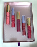 Tarte Lipsurgence And Lip Gloss Full Size Set Of 5 In Adorned, Decadence, Regal,