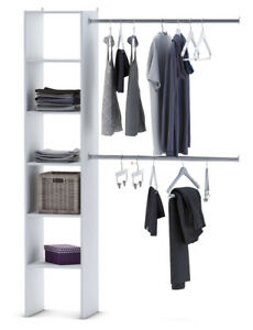 Details Zu Kleiderschrank 6735 Offen Begehbar Regal Kleiderstander Schrank Weiss Garderobe