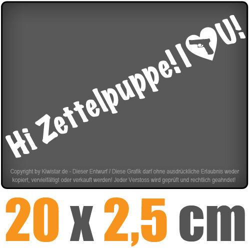 Zettelpuppe! I love you 20 x 2,5 cm JDM Decal Sticker Aufkleber Racing Die Cut