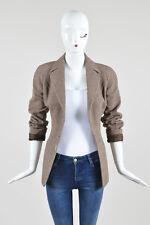 VINTAGE Thierry Mugler Brown Cream Wool Tweed Jacket SZ 40