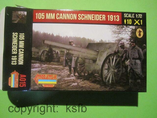 1:72 Strelets #A015 WKII Frankreich Artillerie Kanone 105mm Schneider + Crew