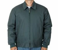 Mens Work Jacket Mechanic Style Zip Jacket Charcoal Gray Jh Work Wear Brand