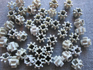 Gearbox Part No 3647 Lego Technic 10 x Gear Cog 8 Tooth Light Grey Engine