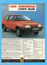 QUATTROR987-PUBBLICITA'/ADVERTISING-1987- LADA SAMARA
